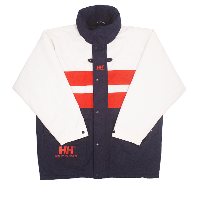 Image of Helly Hansen Vintage Heavy Coat Hooded Size M Fit L