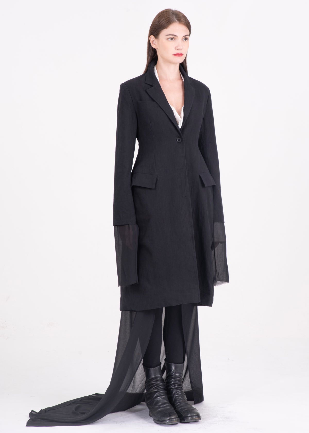 Image of Two Way Blazer & Coat With Sheer