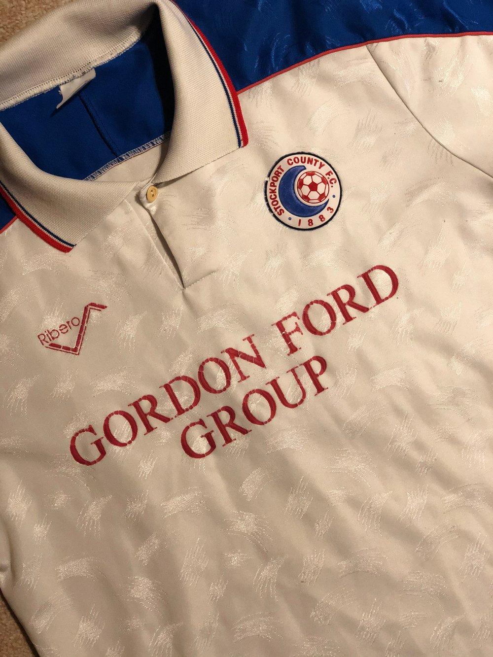 Image of Replica 1990/91 Ribero Gordon Ford Home Shirt