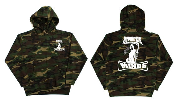 "Image of Hypnotize Minds ""Camo"" Hoodie Front and Back"