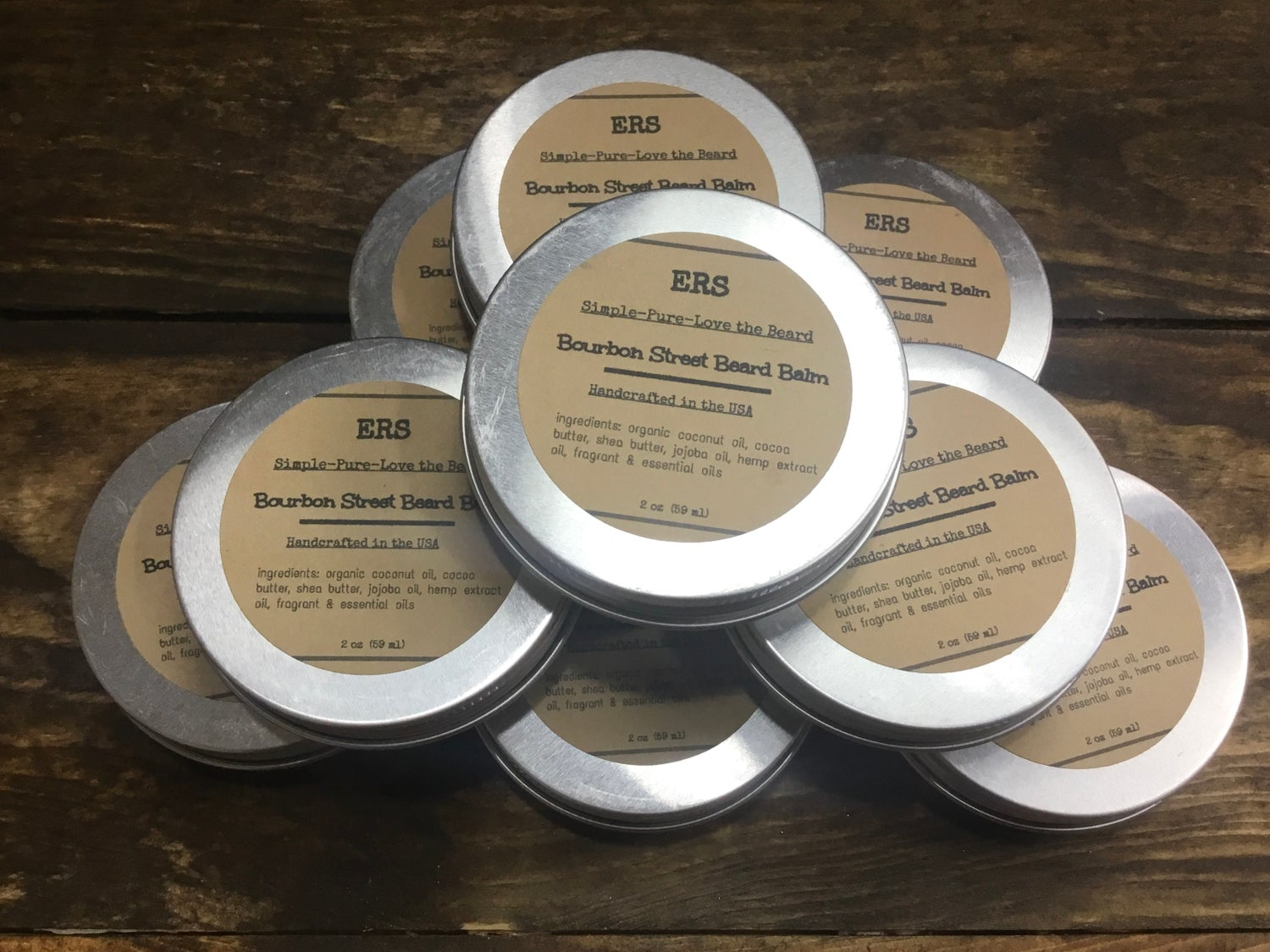 Image of BOURBON STREET BEARD BALM w/ Hemp oil