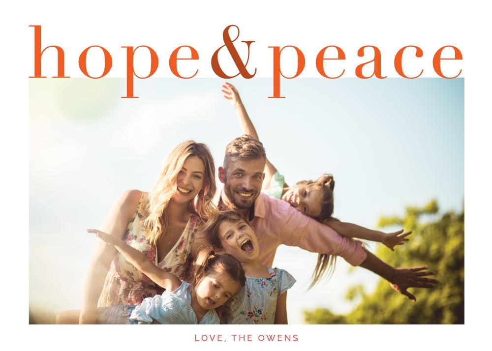 Image of hope + peace