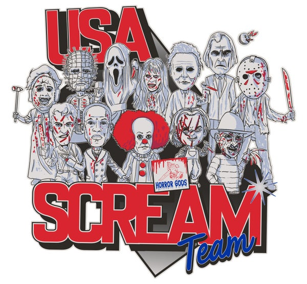 Image of USA SCREAM TEAM (GLOW IN THE DARK) TEE