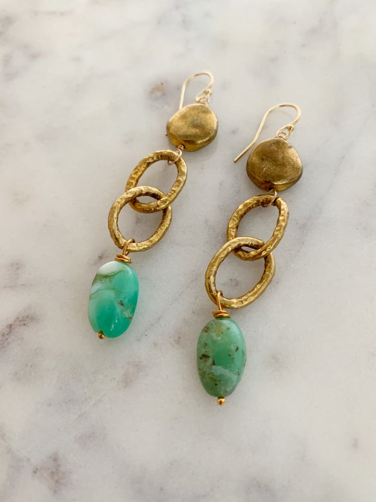 Image of Chain Drop Earrings