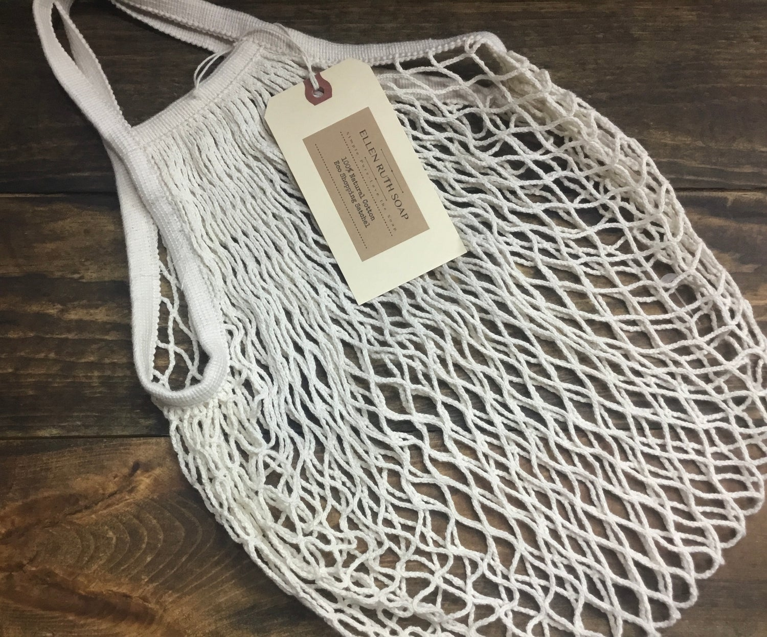 Image of NATURAL 100% COTTON ECO STRING TOTE - standard size