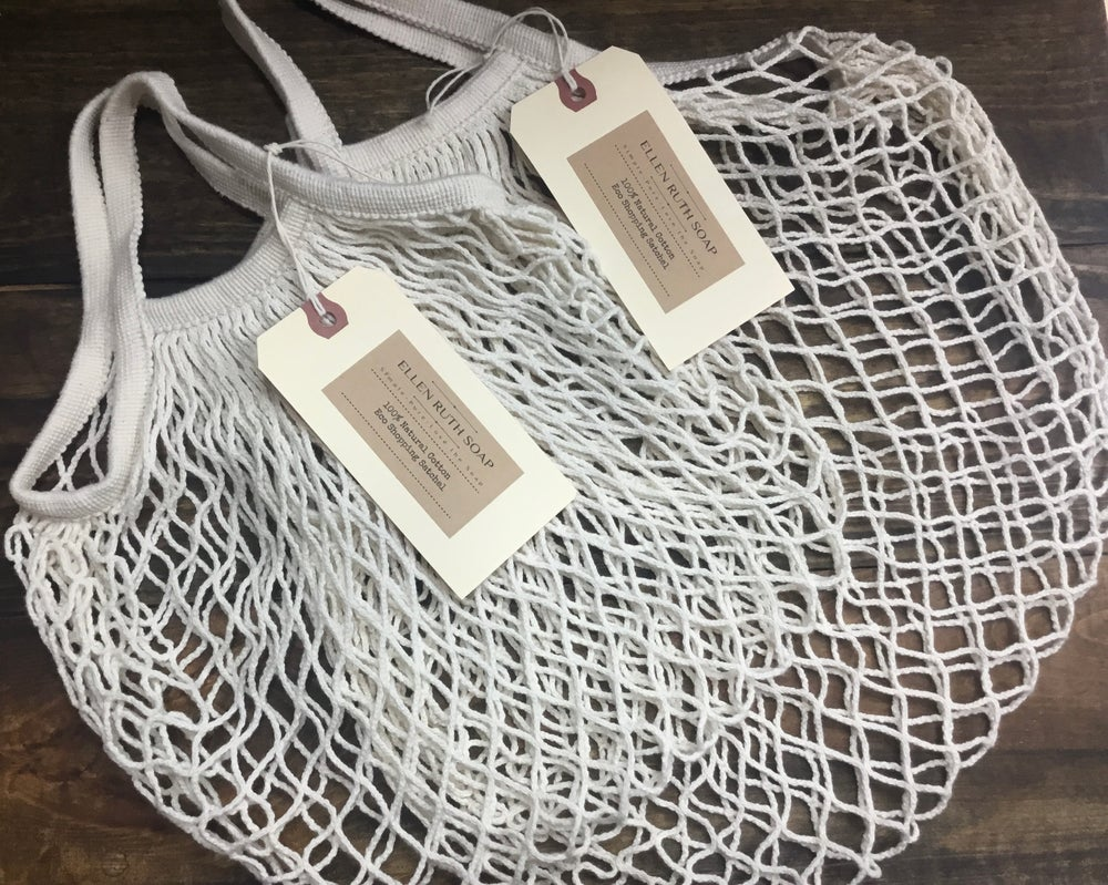 Image of NATURAL 100% COTTON ECO STRING TOTE - Petite size