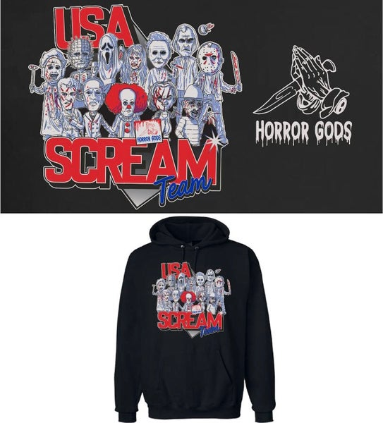 Image of GLOW IN THE DARK USA SCREAM TEAM HOODIE
