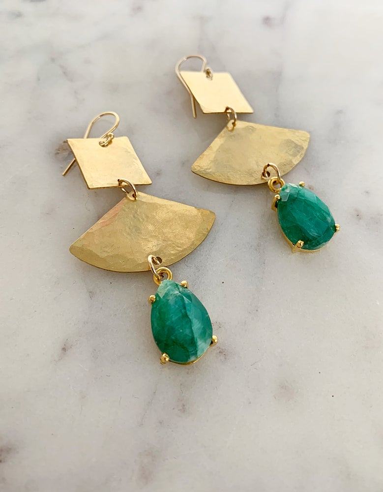Image of Emerald Brass Drops