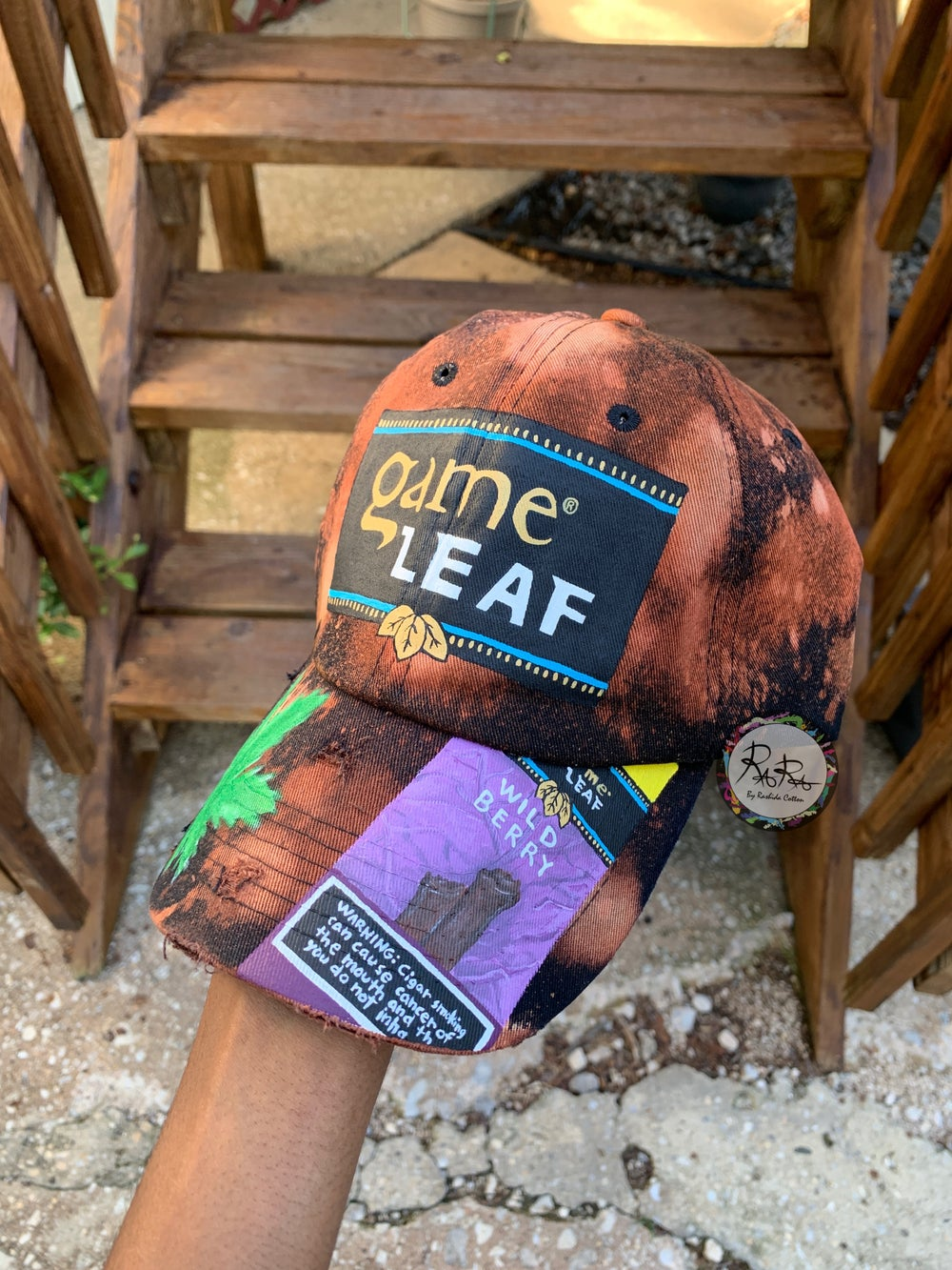 Image of Distressed Game Leaf Hat With Pack