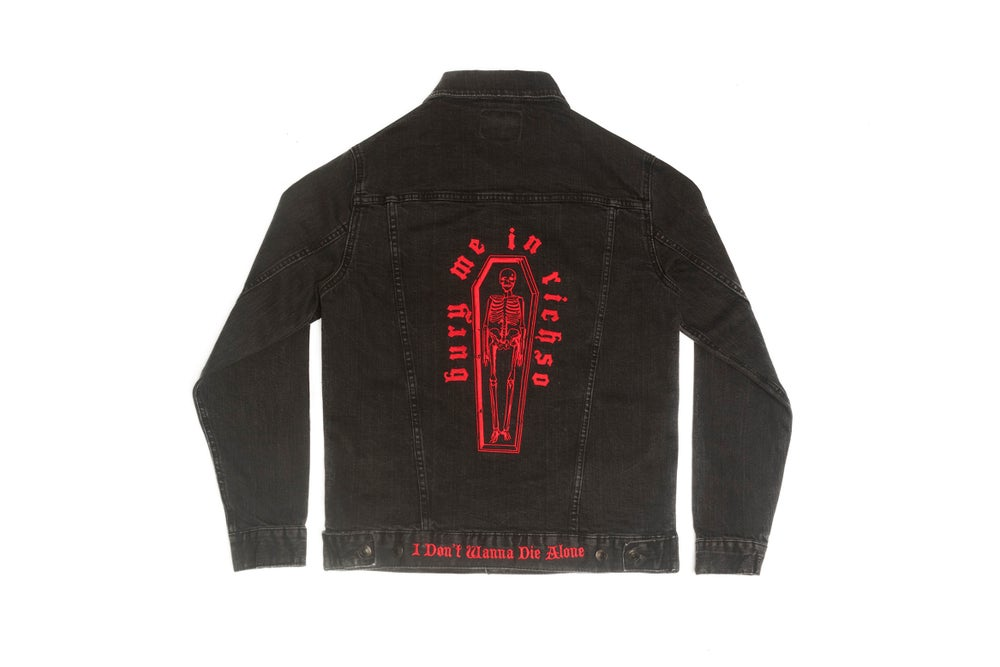 "Image of ""Bury Me"" Denim Jacket"
