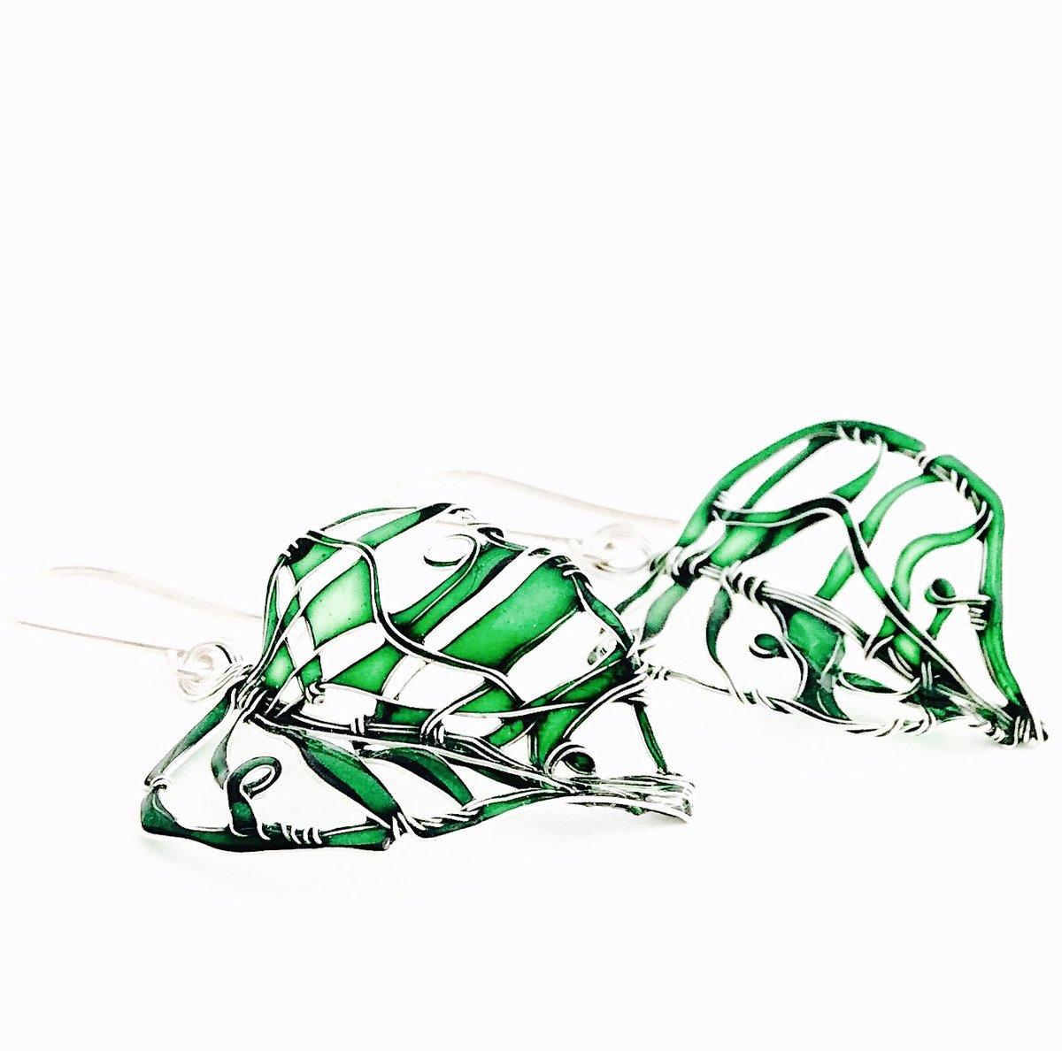 Image of New Green Leaves Earrings
