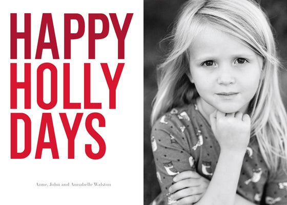 Image of Happy Holly Days