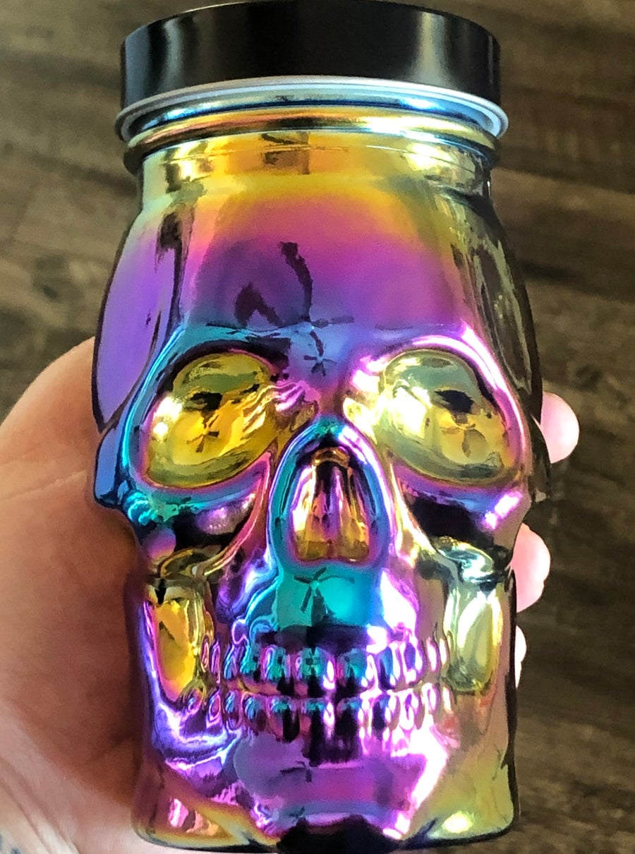 Image of Multichrome Glass Skull Cup