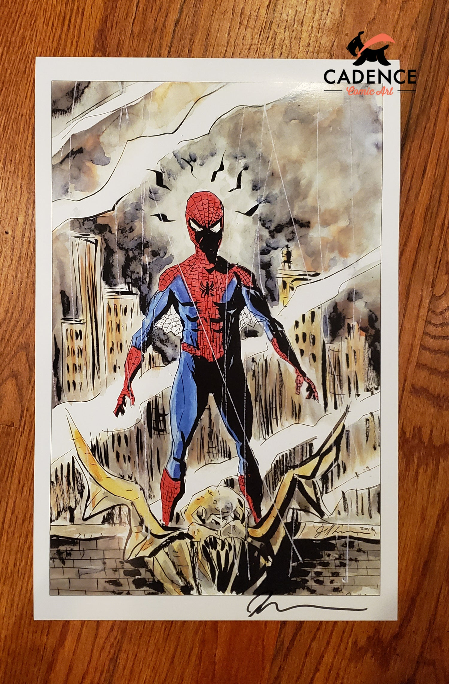 Image of Spider-Man Print by Jeff Lemire (Signed)