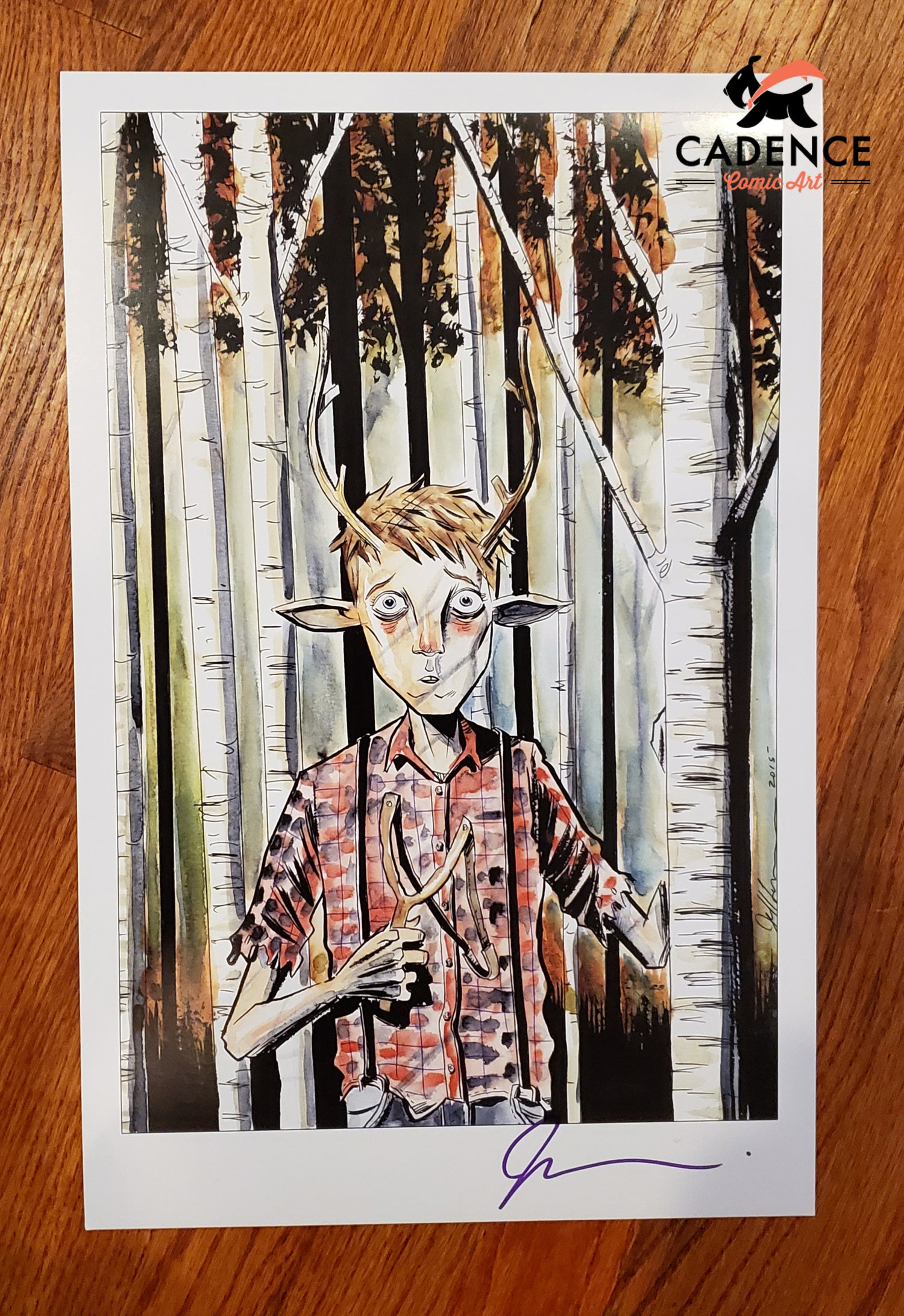 Image of SWEET TOOTH Print by Jeff Lemire (Signed)