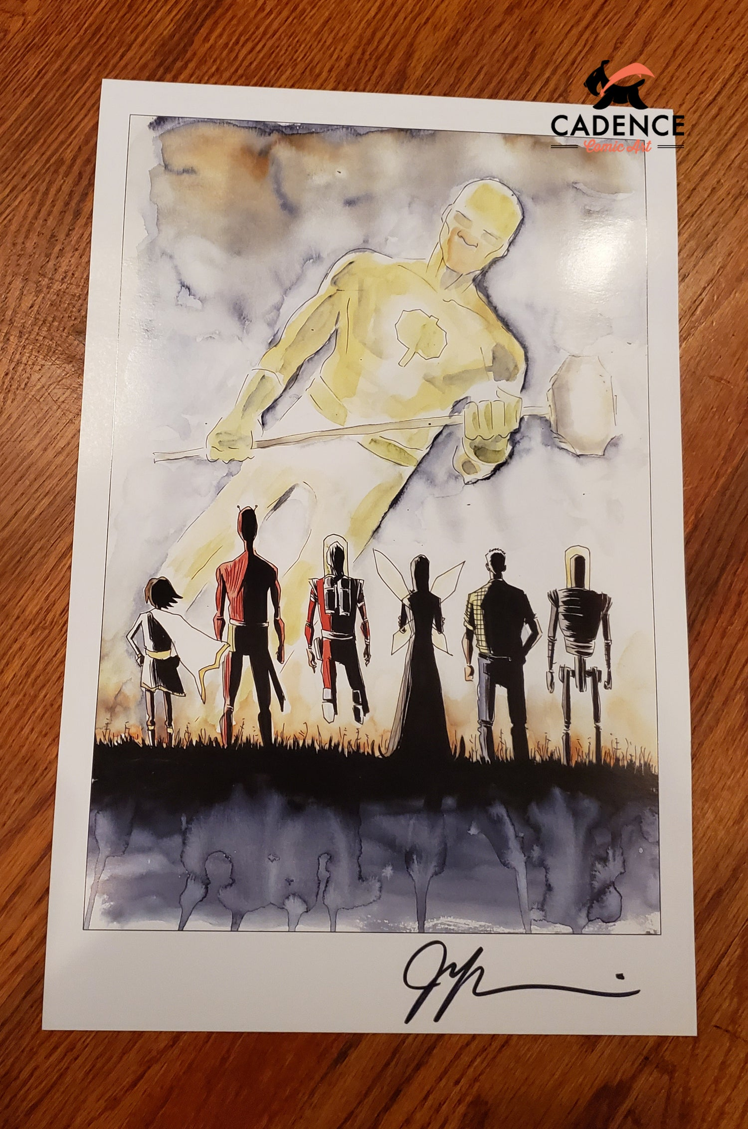 Image of Black Hammer Print by Jeff Lemire (Signed)