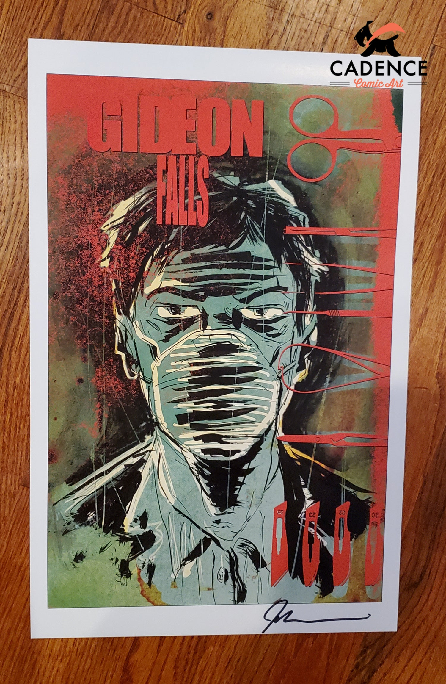Image of Gideon Falls Print by Jeff Lemire (Signed)