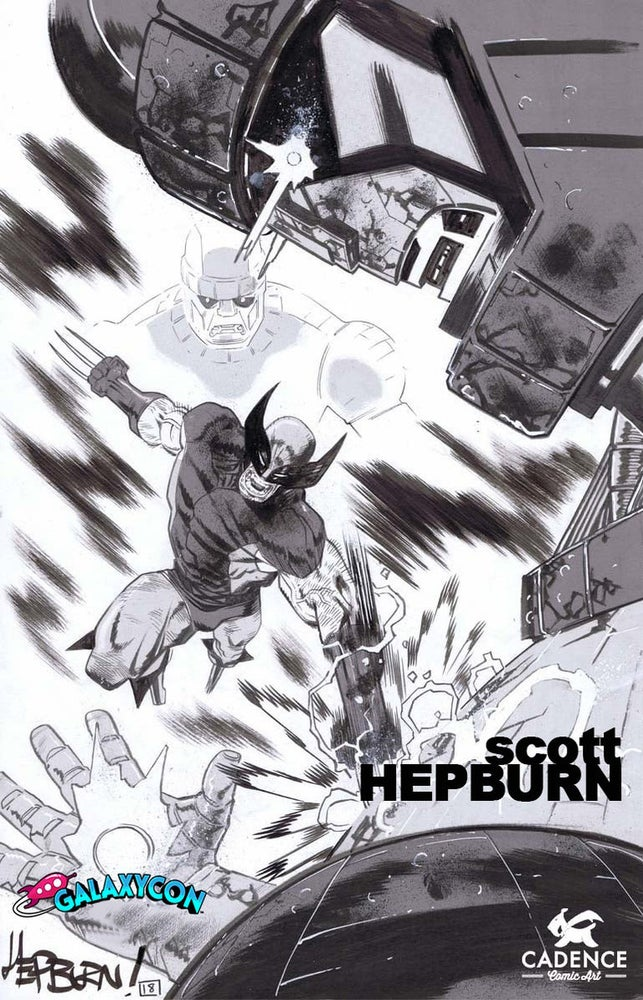 Image of Scott Hepburn Louisville Galaxy Con Pre-Show Commission (Mail Order Available)