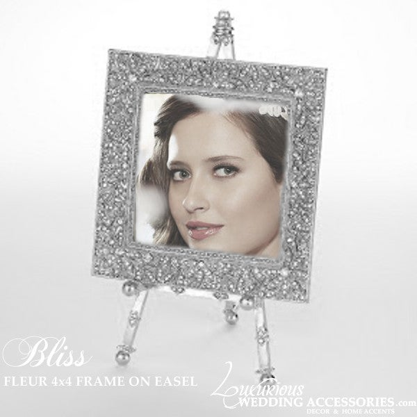 Image of Bliss Fleur Silver Frame On An Easel