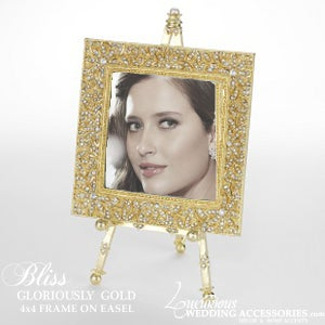 Image of Bliss Gloriously Gold Frame on an Easel