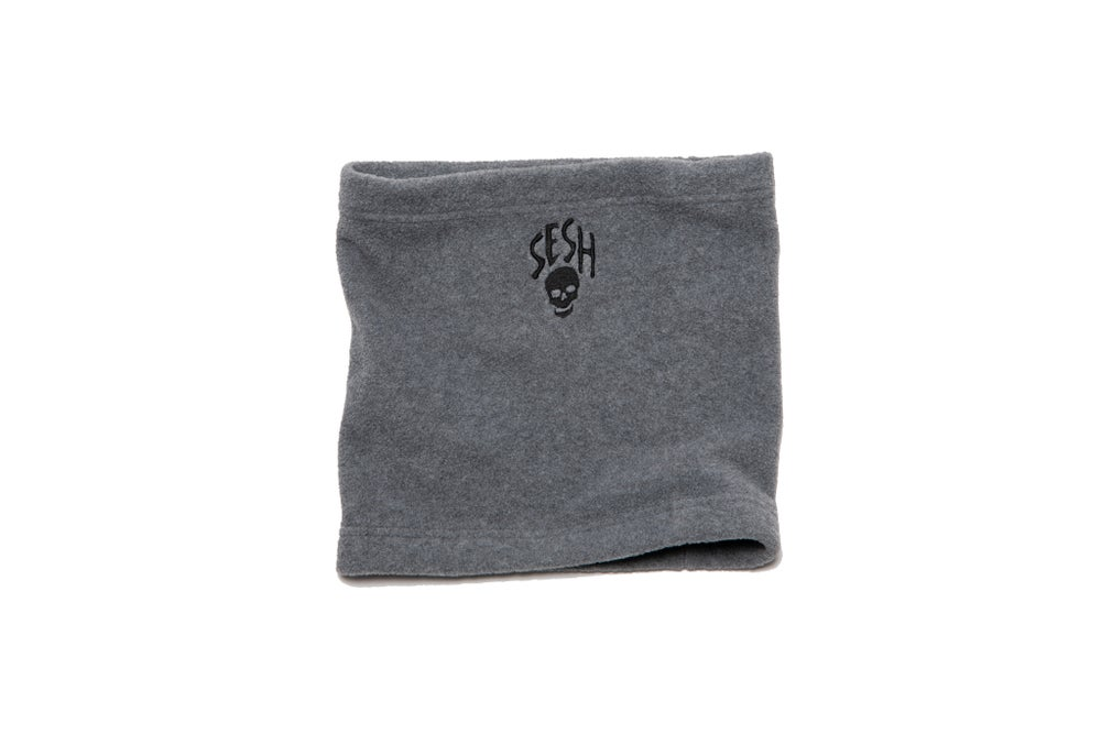 Image of Embroidered Seshskull Fleece Neck Warmer