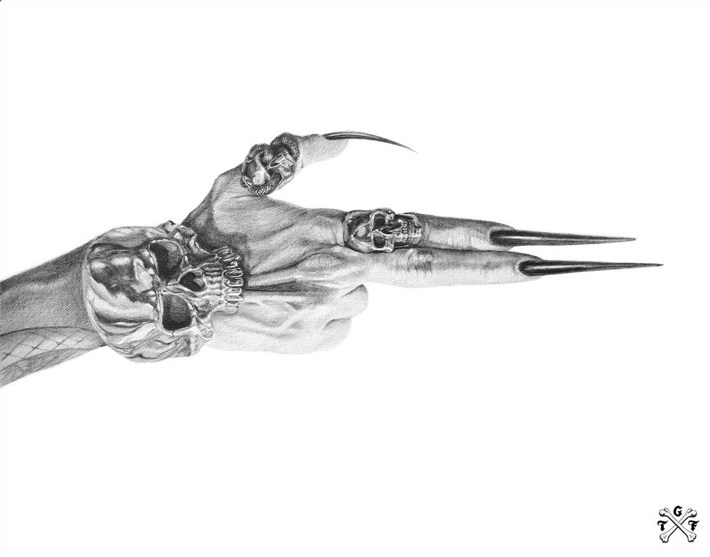 Image of Hand Gun limited edition giclée print