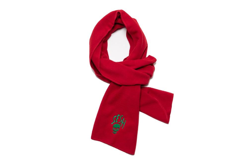 Image of Seshskull embroidered Fleece scarf