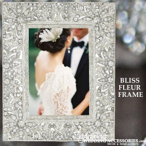 Image of Swarovski Crystal Picture Frame Bliss Fleur