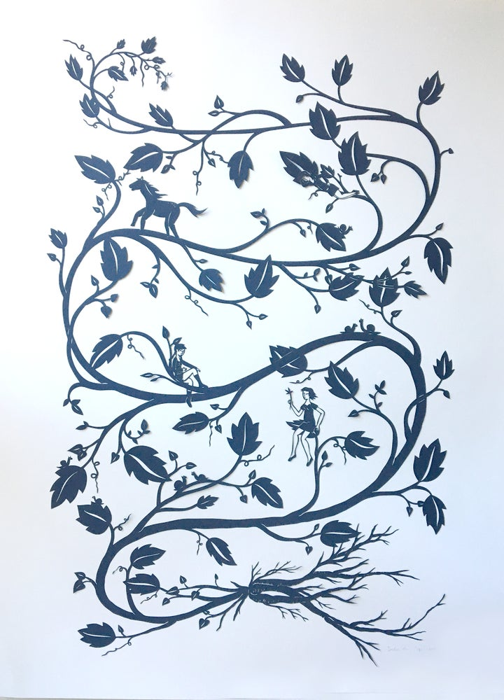 Image of Infinite Vine - Large Laser Cut Print