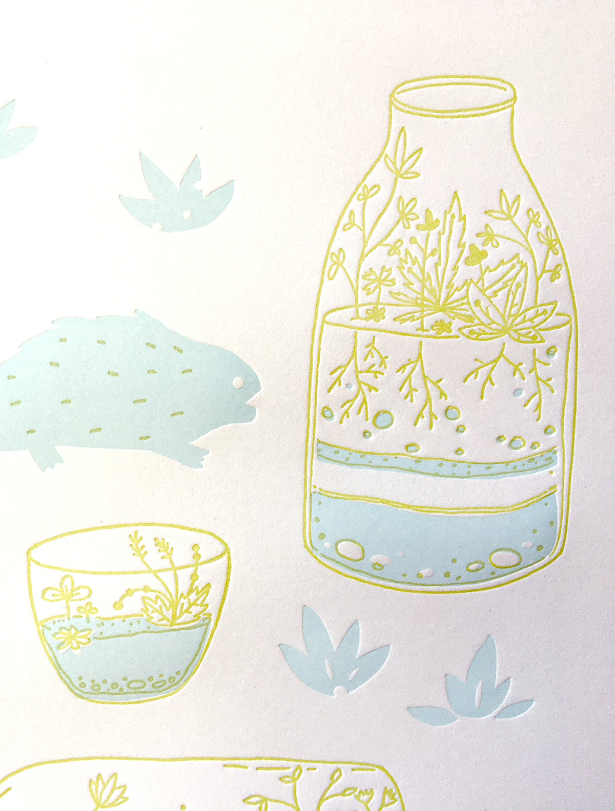 Image of Terrarium Letterpress Print