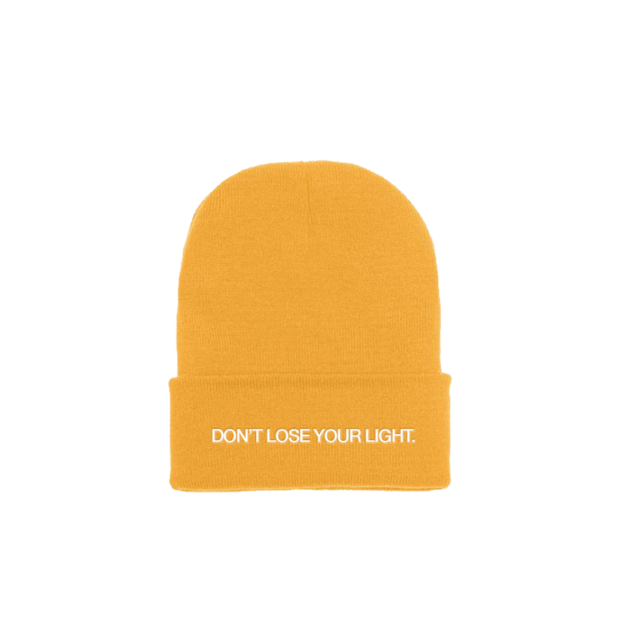 """Image of """"DON'T LOSE YOUR LIGHT"""" YELLOW BEANIE"""