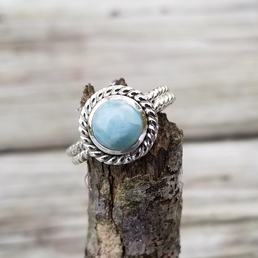 Image of Oceana Ring - Larimar in Sterling