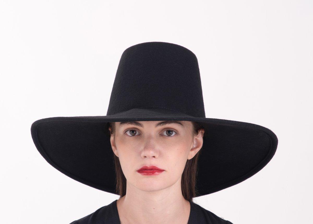 Image of Wool Brim Fedora Hat - 009