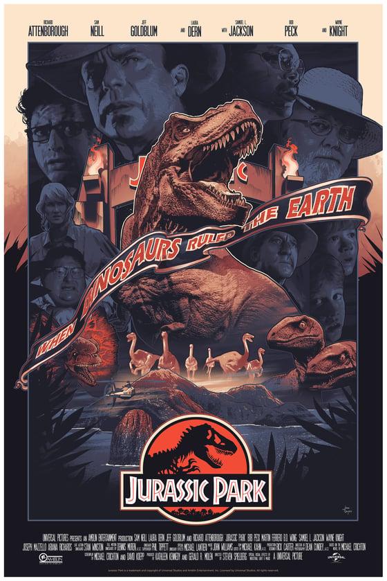 Image of VARIANT JURASSIC PARK Film Poster SIGNED AP