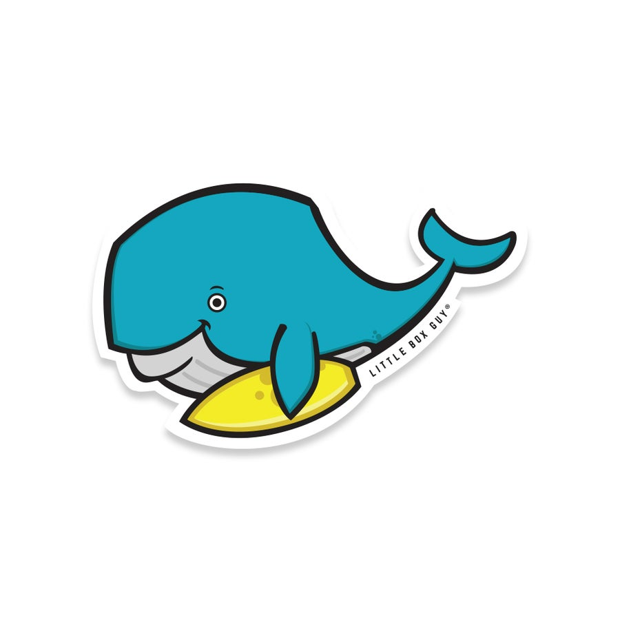 Image of Whale Dude (Die-cut Sticker)