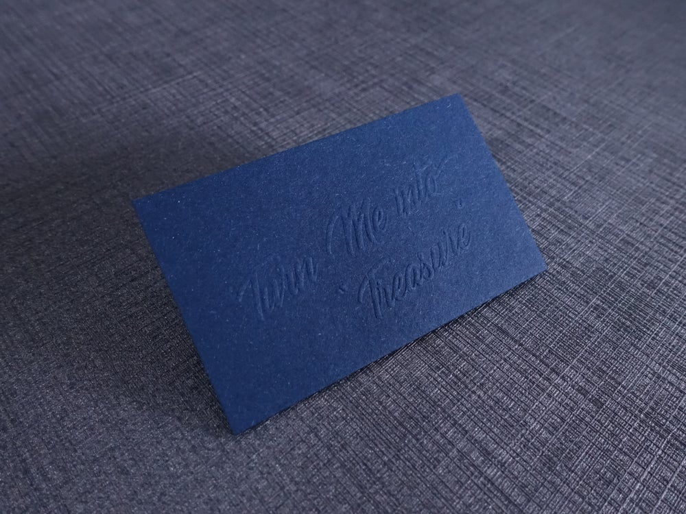 Image of 100 x 325gsm Les Naturals (Navy Blue)
