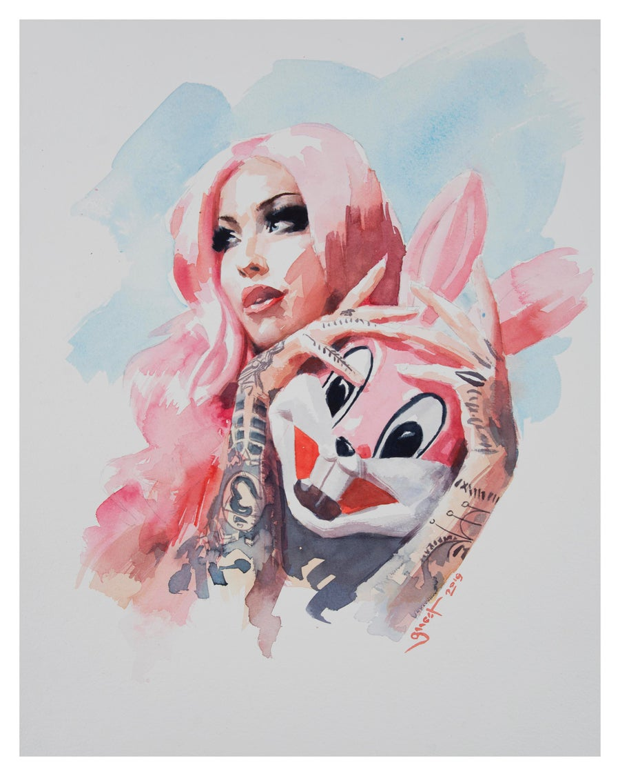 Image of Extremely Limited Edition 'BUNNY MASK' Giclee Print