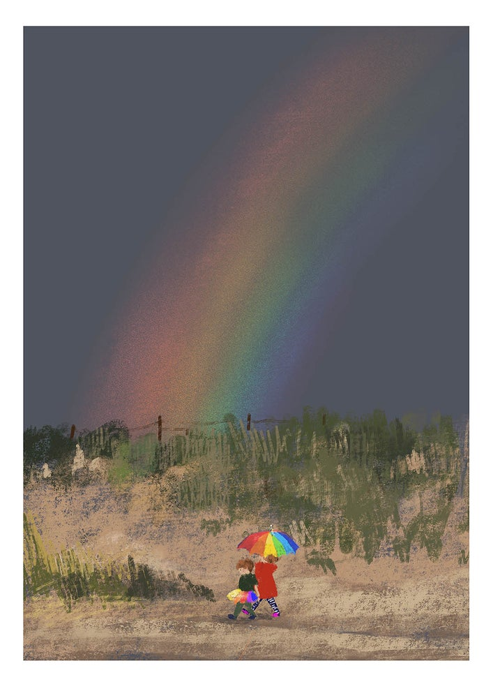 Image of 'Rainbow' A4 Archive Print