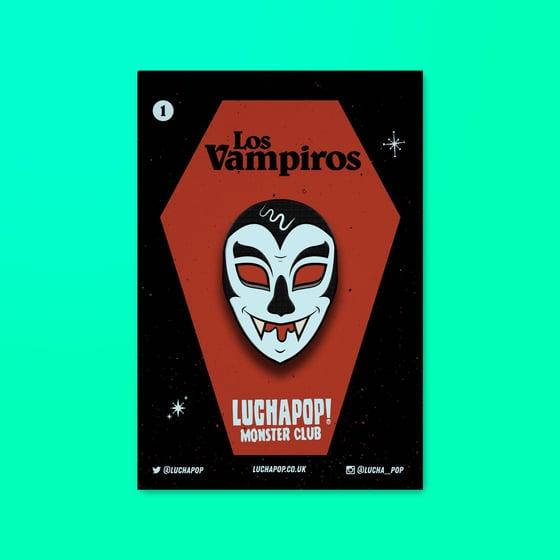 Image of Luchapop! Los Vampiro Monster Club Pin