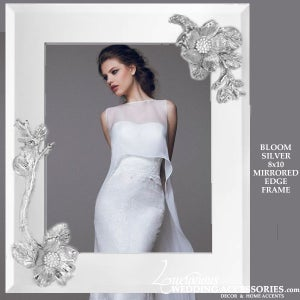 Image of Bloom Silver 8x10 Mirrored Picture Frame