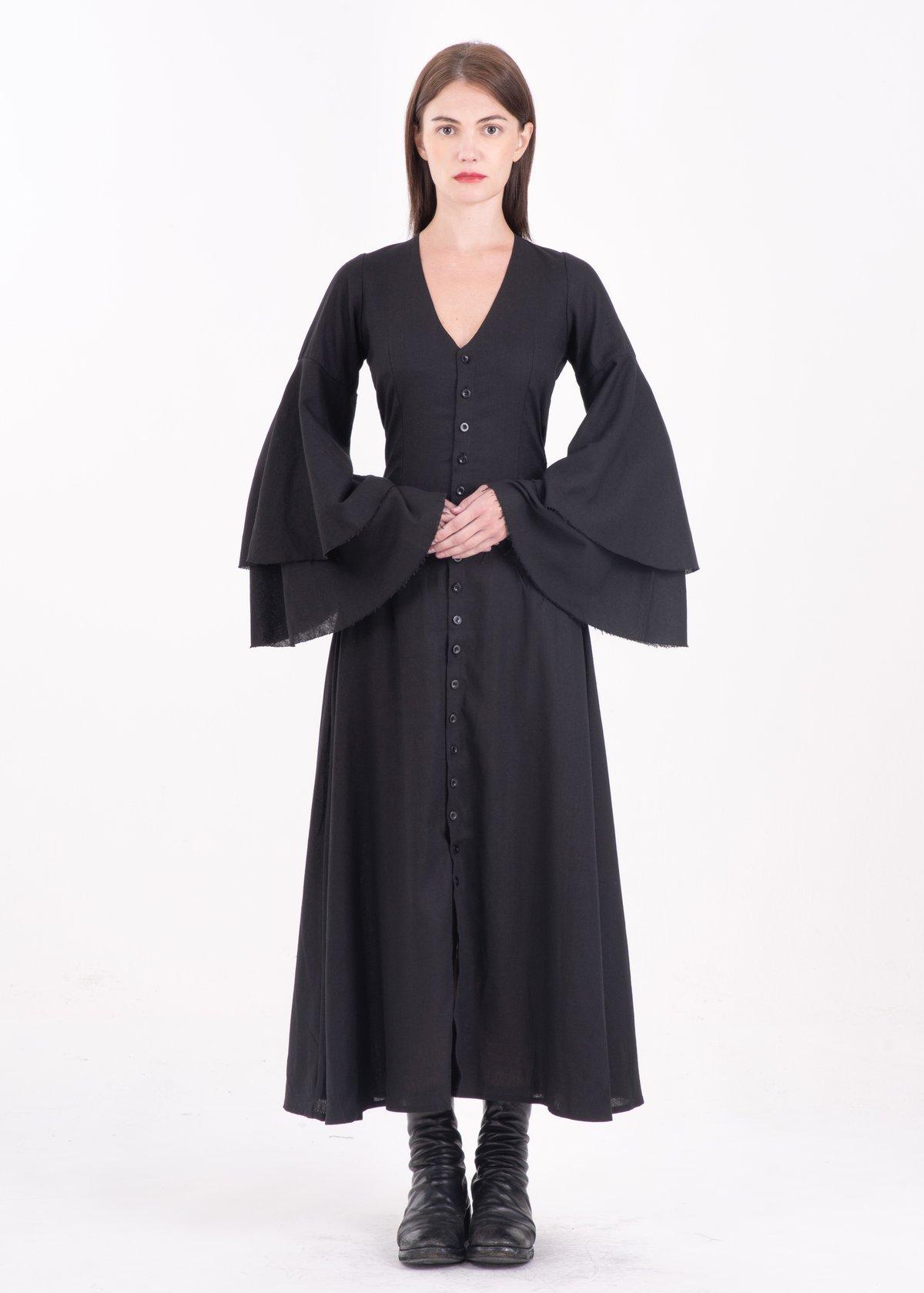 Image of Diane Layered Sleeve Long Dress