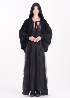 Image of Lace Up Hooded Cape