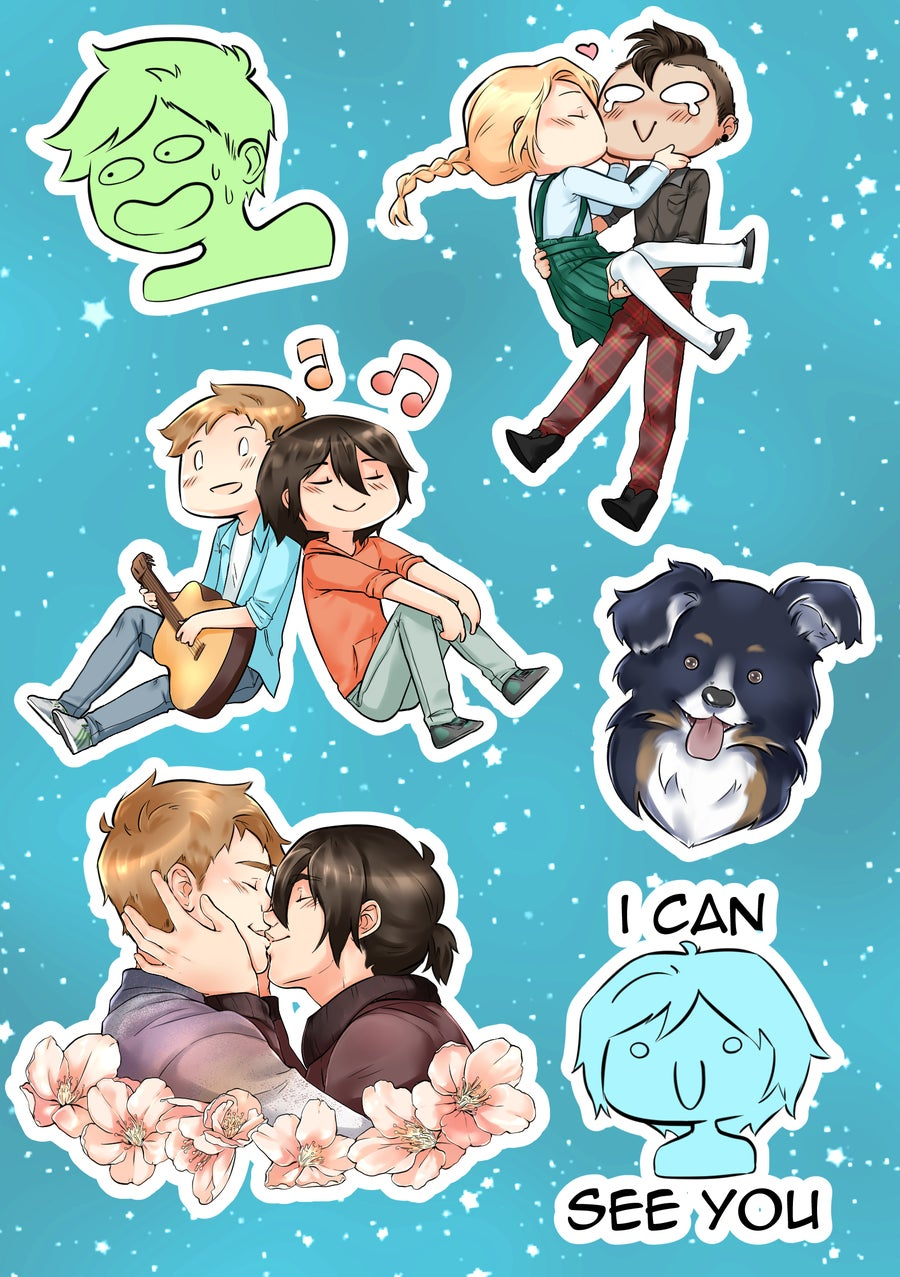 Image of LLM stickers sheet