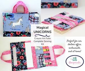 Image of Magical Unicorns Crayon Art Folio Complete Sewing Kit