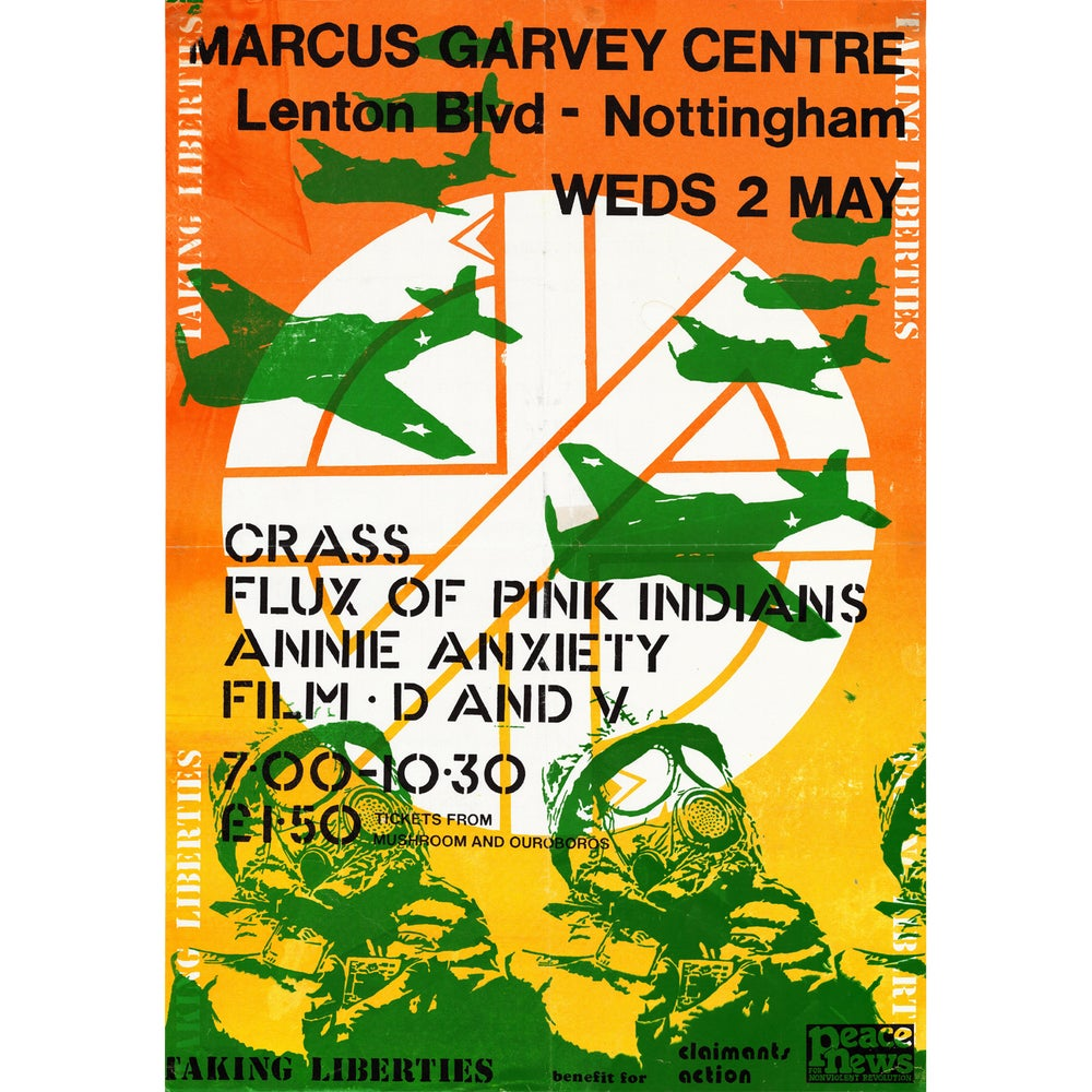 Image of CRASS - GIG POSTER NOTTINGHAM 1984 - 1000 PIECE JIGSAW - ARTWORK BY PERSONS UNKNOWN