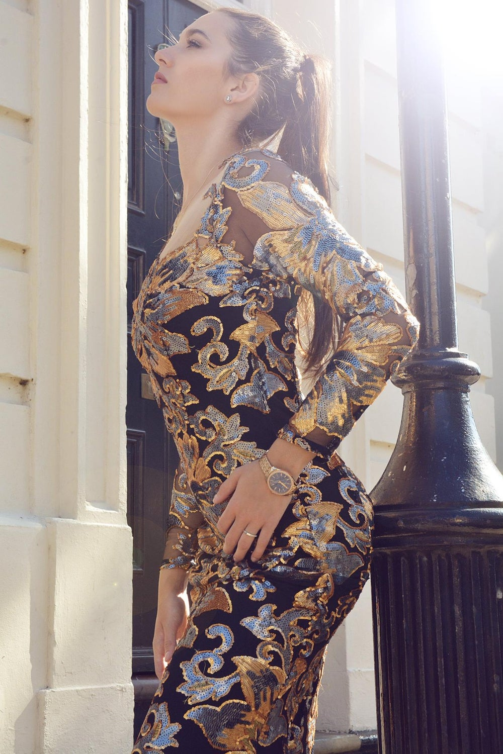 Image of FlowerBomb Sequin Gown