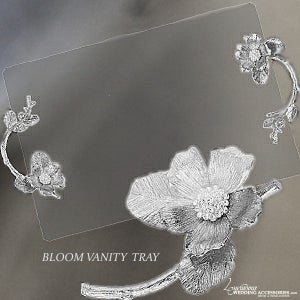 Image of Bloom Silver Vanity Tray