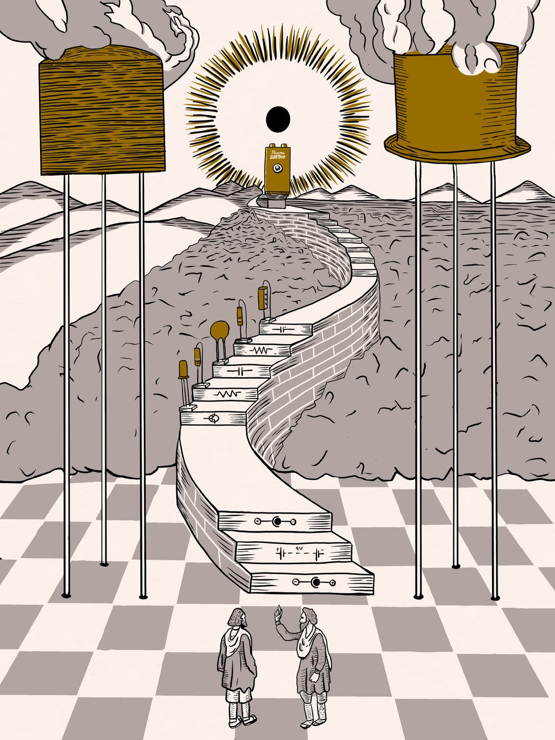 Image of Path to EnlighTONEment 18x24 Screen Print - Only 25 made
