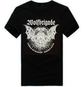 """Image of Wolfbrigade """"Damned To Madness, Forever Black"""" T-Shirt"""