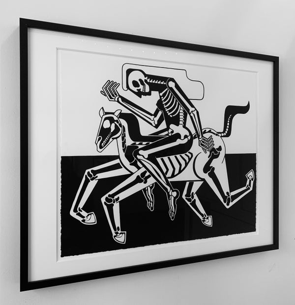 """Elizabeth Brice-Heames - """"The Rider and The Ridden, 2019"""" - 1 Color Screenprint - Edition of 20 - Misc. Press"""